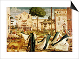 St. Jerome and Lion in the Monastery, 1501-09 Prints by Vittore Carpaccio