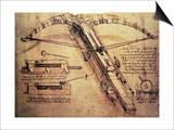 Riesenarmbrust, ca. 1499 Kunstdrucke von  Leonardo da Vinci