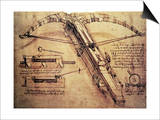 Catapulta gigante, c. 1499 Posters por Leonardo da Vinci