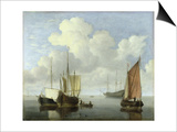 Seascape Poster by Willem Van De Velde The Younger