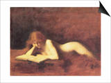 The Reader Posters by Jean-Jacques Henner