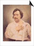 Portrait of Honore De Balzac (1799-1850) after a Daguerreotype Prints