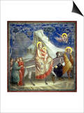 The Flight into Egypt, circa 1305 Prints by  Giotto di Bondone