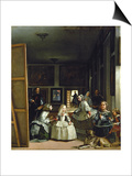 Las Meninas or the Family of Philip IV, circa 1656 Prints by Diego Velázquez