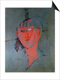 The Red Head, circa 1915 Posters by Amedeo Modigliani
