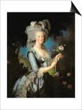 Marie Antoinette (1755-93) with a Rose, 1783 Affiches par Elisabeth Louise Vigee-LeBrun