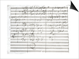 Score for the 3rd Movement of the 5th Symphony Art by Ludwig Van Beethoven