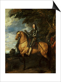 Equestrian Portrait of Charles I (1600-49) circa 1637-38 Poster von Sir Anthony Van Dyck