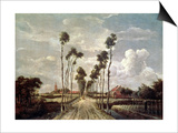 The Avenue at Middelharnis, 1689 Lámina por Meindert Hobbema
