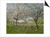 Apple Trees in Flower Art by Ernest Quost