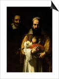 The Bearded Woman Breastfeeding, 1631 Plakat af Jusepe de Ribera