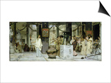 The Vintage Festival in Ancient Rome, 1871 Poster by Sir Lawrence Alma-Tadema
