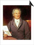 Johann Wolfgang Von Goethe (1749-1832) 1828 Prints by Josef Karl Stieler