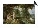 Adam and Eve in Paradise, circa 1610-15 Posters by Jan Brueghel the Elder