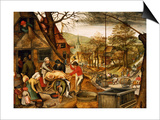 Allegory of Autumn Poster par Pieter Brueghel the Younger