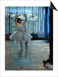 Dancer in Front of a Window (Dancer at the Photographer's Studio) circa 1874-77 Art by Edgar Degas