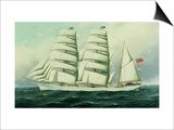 The East African in Full Sail Print by Antonio Jacobsen