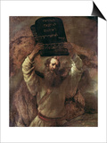 Moses Smashing the Tablets of the Law, 1659 Posters by  Rembrandt van Rijn