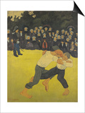 The Wrestling Bretons, circa 1893 Konst av Paul Serusier