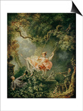The Swing Prints by Jean-Honoré Fragonard