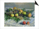 Still Life with Pears and Grapes, 1880 Poster von Claude Monet