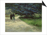 Couple in the Park, Arles, c.1888 Prints by Vincent van Gogh
