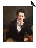 Portrait of Franz Schubert (1797-1828), Austrian Composer, Aged 17, circa 1814 Print