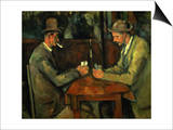 The Card Players, 1890-95 Poster by Paul Cézanne