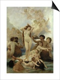 The Birth of Venus, 1879 Poster by William Adolphe Bouguereau