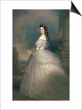 Elizabeth of Bavaria (1837-98), Empress of Austria, Wife of Emperor Franz Joseph (1830-1916) Prints by Franz Xavier Winterhalter