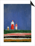 Three Figures, 1913-28 Posters by Kasimir Malevich