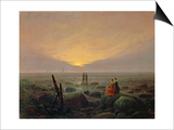Moon Rising over the Sea, 1821 Prints by Caspar David Friedrich