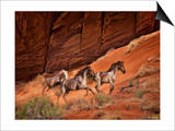 Running Horses II Posters by David Drost