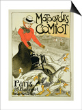 Reproduction of a Poster Advertising Comiot Motorcycles, 1899 Prints by Théophile Alexandre Steinlen