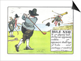 Rule XIII: If Ye Player's Ball Strike an Opponent's Caddie Prints by Charles Crombie