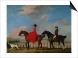 John and Sophia Musters Riding at Colwick Hall, 1777 Prints by George Stubbs