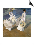 A Walk on the Beach, 1909 Posters by Joaquín Sorolla y Bastida