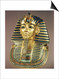 The Gold Funerary Mask, from the Tomb of Tutankhamun (circa 1370-52 BC) New Kingdom Prints