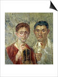 Portrait of a Couple, Thought to be Paquio Proculo and His Wife Poster