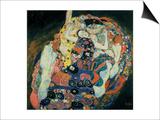 La doncella, 1913 Lámina por Gustav Klimt