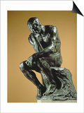 The Thinker, 1881 Prints by Auguste Rodin
