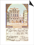 The Leipzig Gewandhaus with a Piece of Music by Felix Mendelssohn (1809-47) Prints
