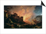 Coalbrookdale by Night, 1808 Prints by Philip James De Loutherbourg