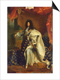 Louis XIV (1638-1715) in Royal Costume, 1701 Posters by Hyacinthe Rigaud