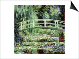 White Waterlilies, 1899 Print by Claude Monet