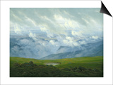 Drifting Clouds Posters by Caspar David Friedrich