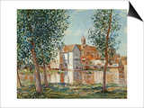 The Loing at Moret, September Morning Poster by Alfred Sisley