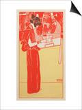 Musik Poster van Gustav Klimt