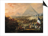Battle of Pyramids, 21 July 1798 Posters by Francois Louis Joseph Watteau