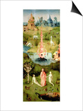 The Garden of Earthly Delights: the Garden of Eden, Left Wing of Triptych, circa 1500 Poster von Hieronymus Bosch